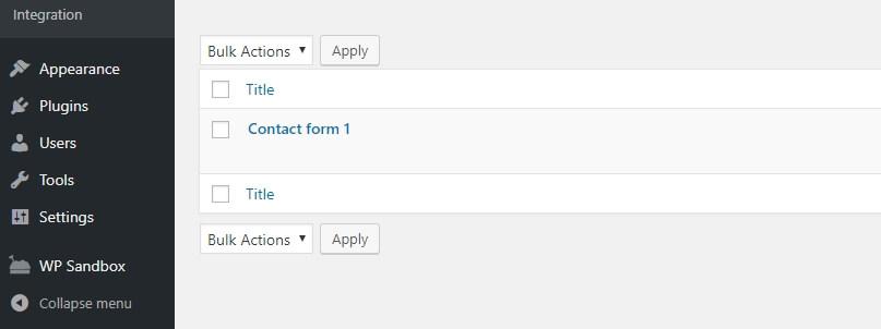 Daftar formulir kontak