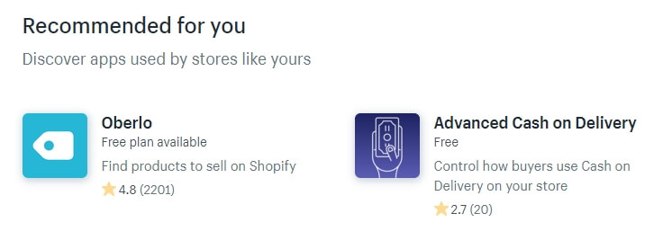 Apps store shopify