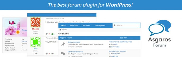 Plugin Asgaros Forum