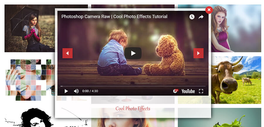 Contoh penggunaan plugin Video Gallery – YouTube Gallery