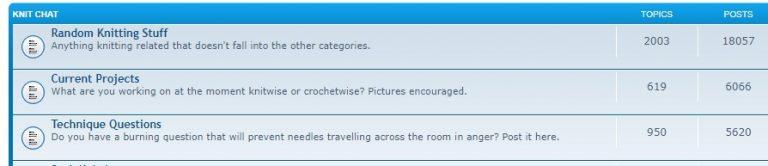 Forum untuk kegiatan merajut