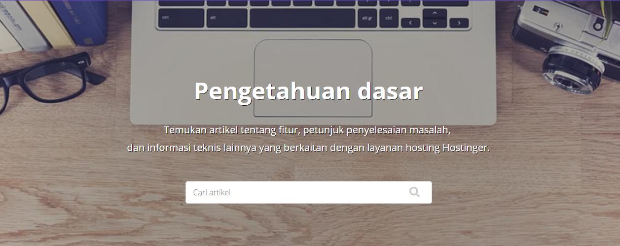 Halaman Knowledge Base (Pengetahuan Dasar)