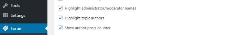 Aktifkan highlight untuk moderator counter