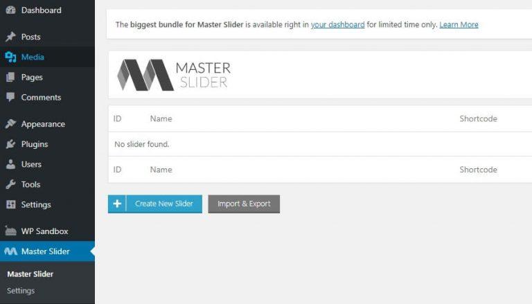 Membuat slider WordPress baru