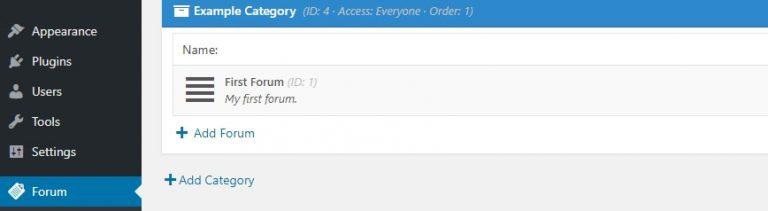 Klik Add Forum