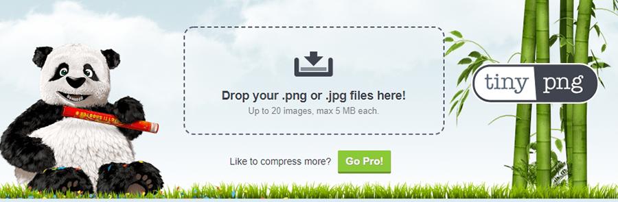 Meng-compress gambar dengan TinyPNG