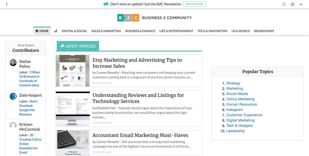 Business2Community contoh blog reverse