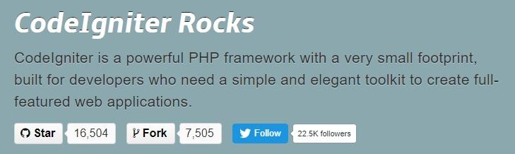 Framework PHP terbaik, CodeIgniter