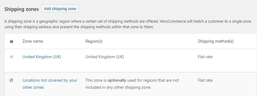 Metode pengiriman di WooCommerce