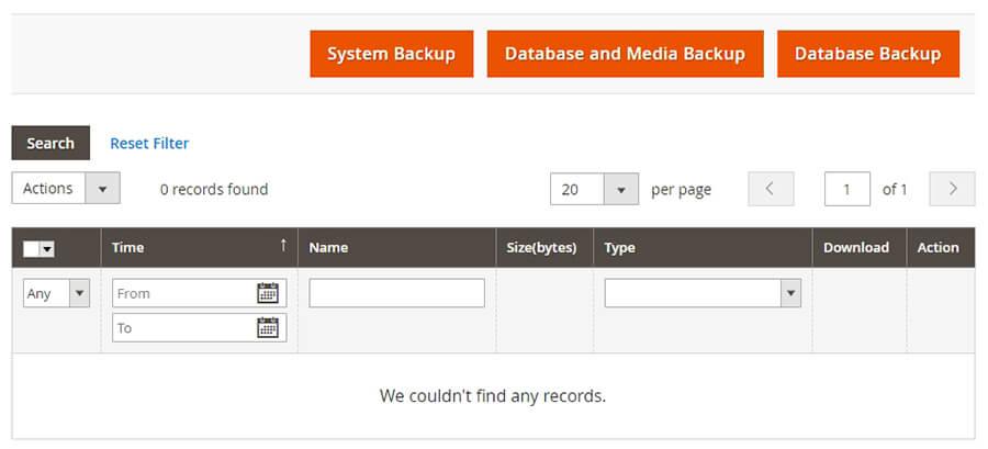 Sistem backup