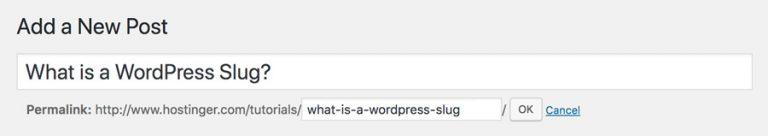 Membuat WordPress Slug untuk Post