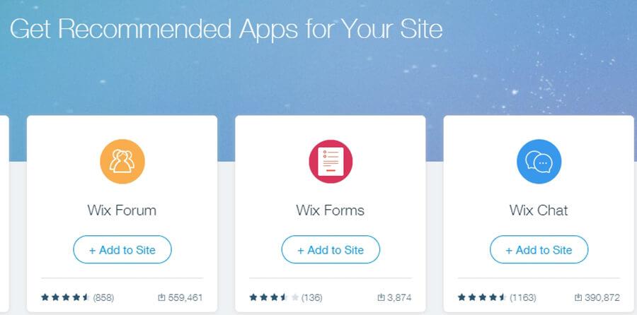 Menambahkan aplikasi di Wix