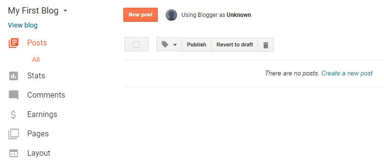 Mulai membuat blog