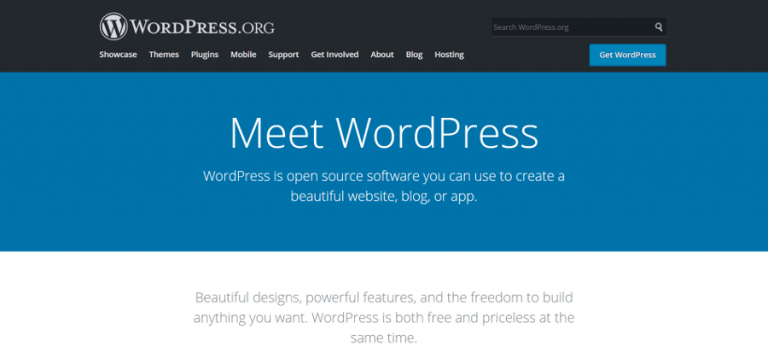 WordPress.com vs WordPress.org: Webstite WordPress.org
