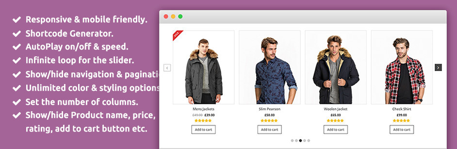 WooCommerce Plugin: SP WooCommerce Product Slider