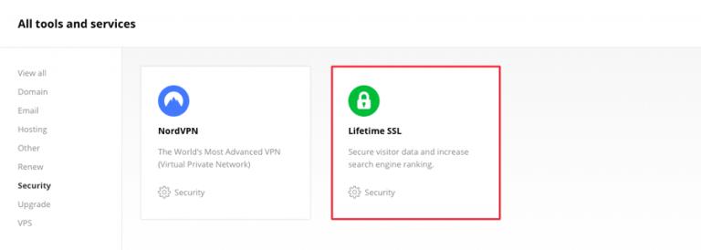 Beli SSL seumur hidup