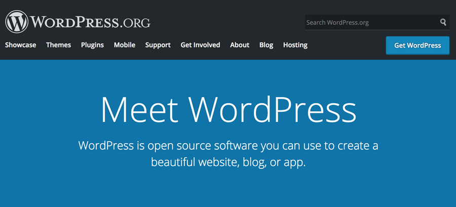 Beranda utama WordPress.org