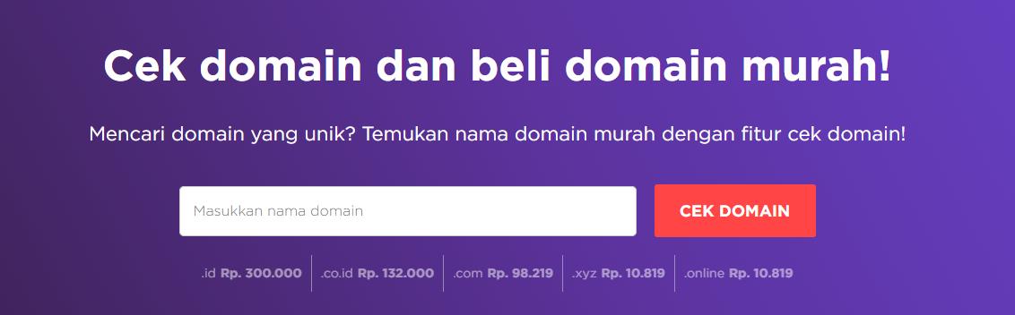 Cek domain untuk buat website fotografi