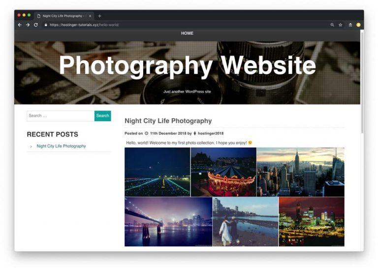 Contoh galeri di website fotografi