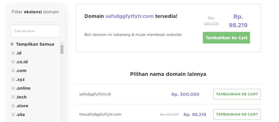 Domain .com tersedia