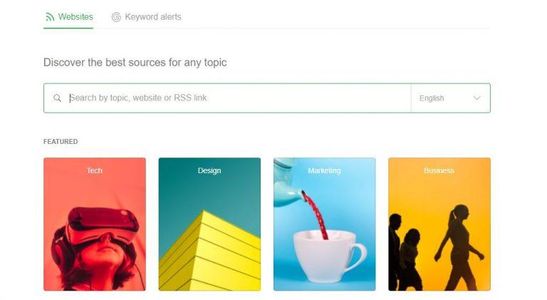 RSS Feed adalah: tampilan Feedly di desktop