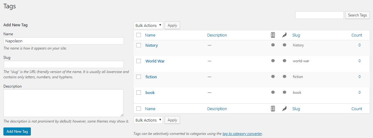 Tags adalah: menambahkan tag WordPress ke postingan yang sudah ada