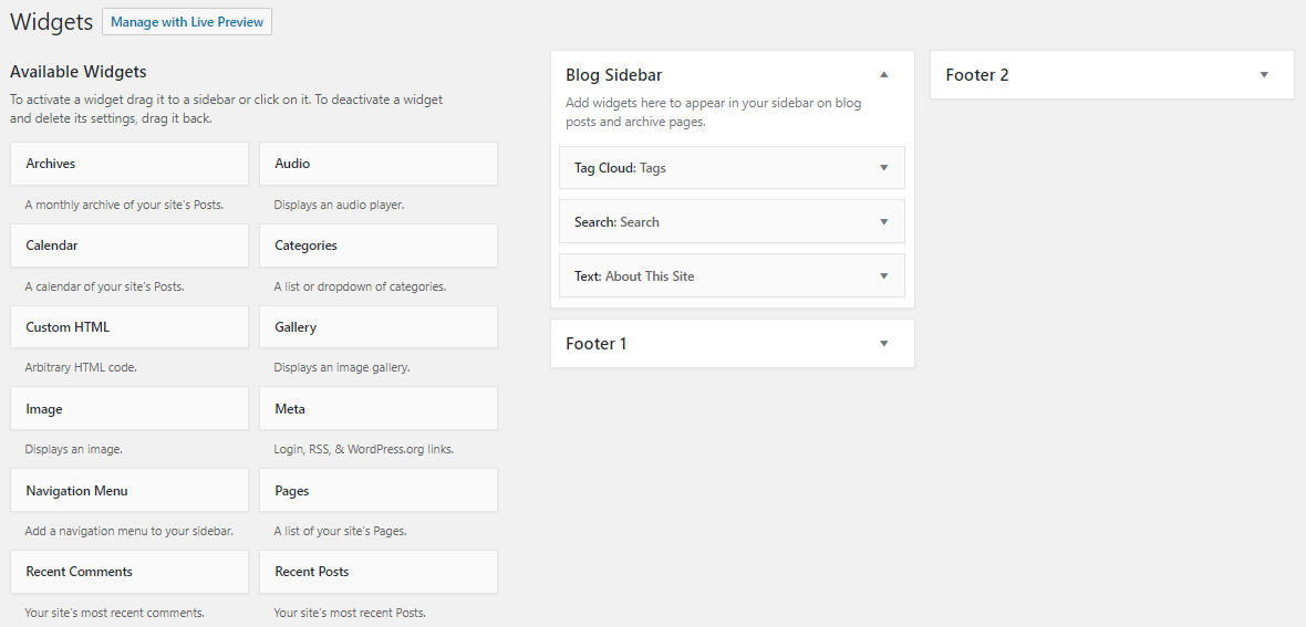 Cara membuat tag cloud widget WordPress