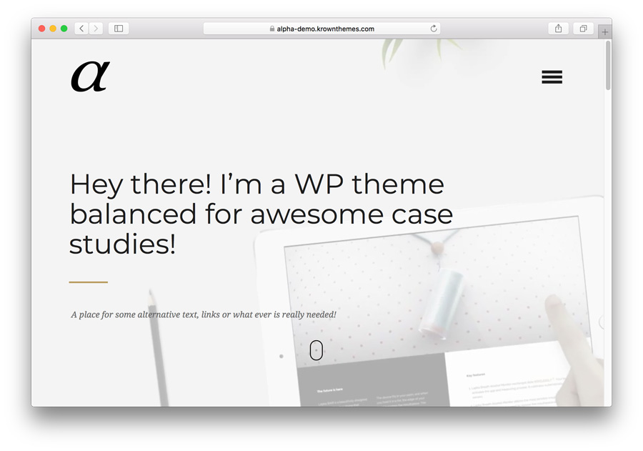 Template WordPress Premium: Alpha
