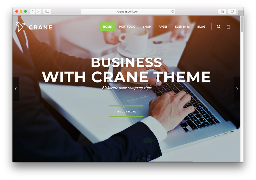 Template WordPress premium: Crane