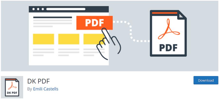 plugin PDF embeder WordPress DK PDF