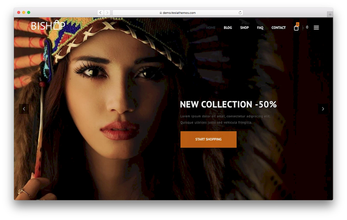 theme WooCommerce bishop