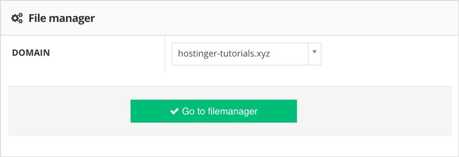 Instal Joomla: buka file manager