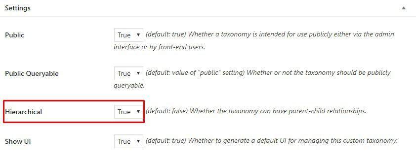taksonomi hirasrkis pada wordpress