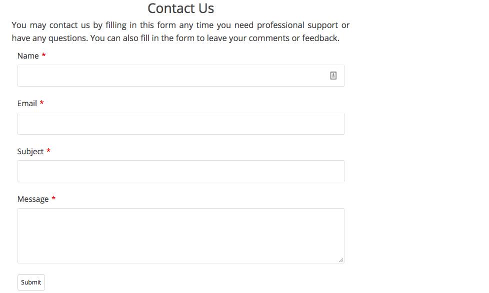 Contact form sederhana menggunakan Form Maker