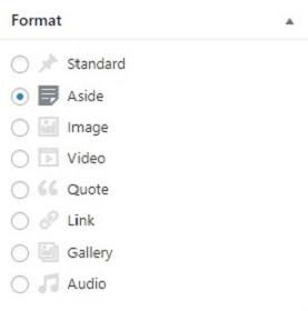 taksonomi format pada wordpress