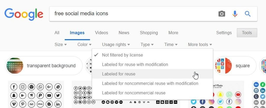 cuplikan bagaimana memfilter gambar google