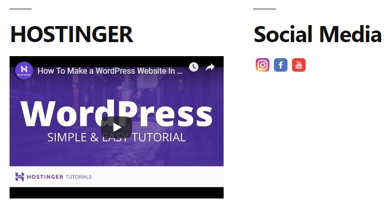 ikon sosmed yang sudah berada pada halaman website