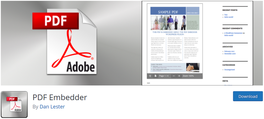 instalasi plugin pdf embedder