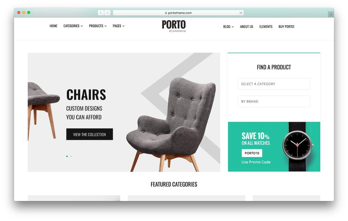 theme WooCommerce bernama Porto