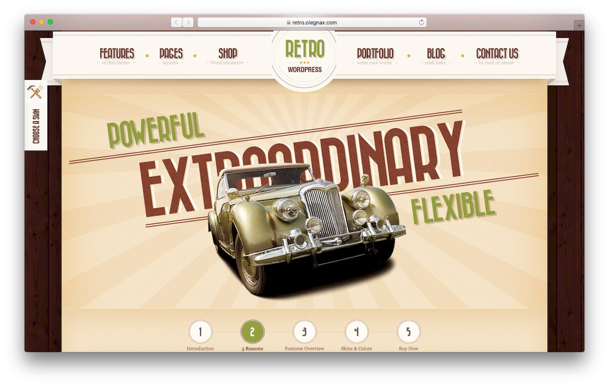 theme WooCommerce bernama Retro