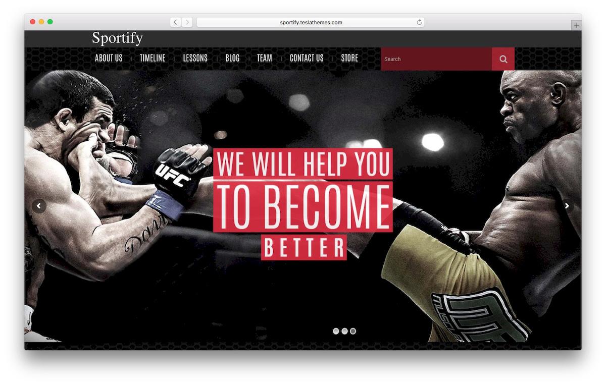 tampilan theme WooCommerce Sportify