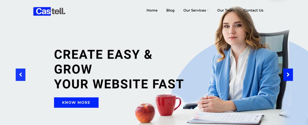 Template toko online WordPress Castell