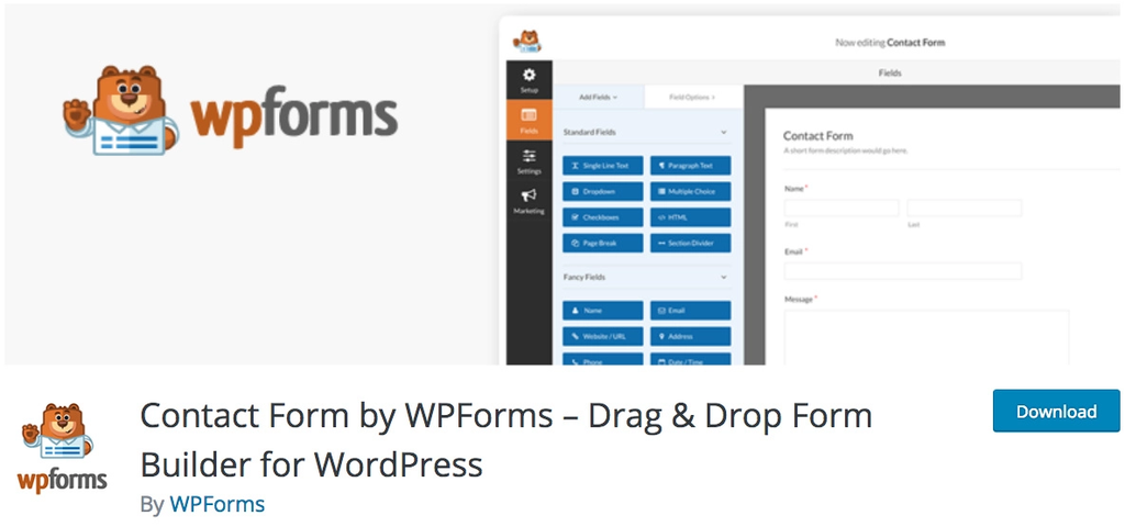 WPForms untuk membuat contact form WordPress