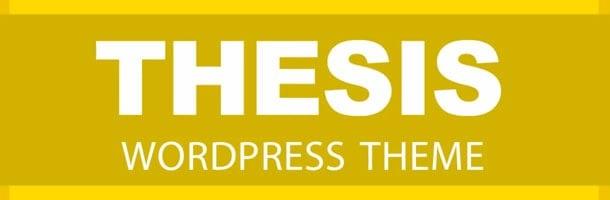 Thesis, WordPress Framework