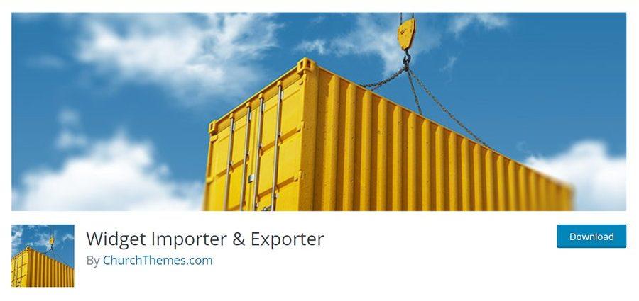 instalasi plugin widget importer and exporter wordpress