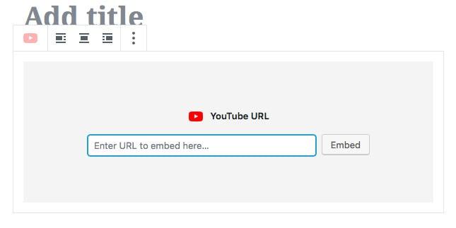 memasang youtube link pada gutenberg editor