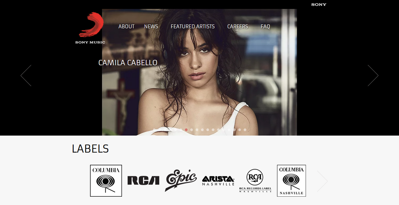 homepage sony music
