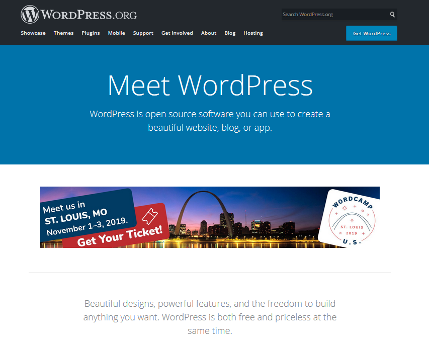 homepage wordpress org