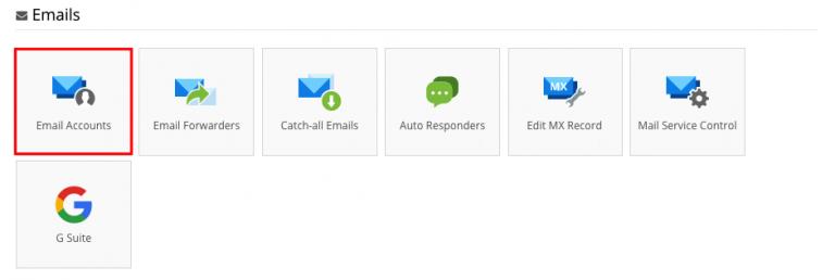 Setting email di iPhone - masuk ke akun email di hpanel