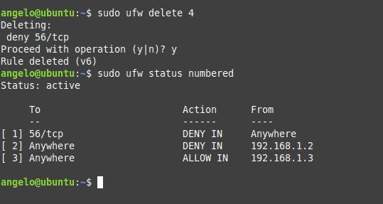 daftar rule ufw untuk firewall ubuntu